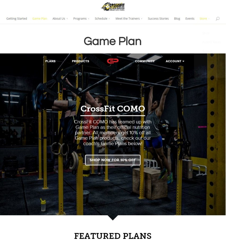 CrossFit COMO Game Plan